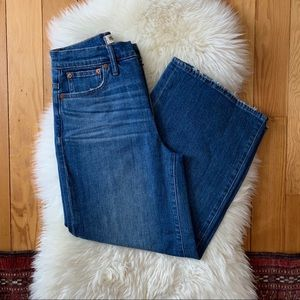 Madewell High Rise Wide Leg Crop Jeans in Finney